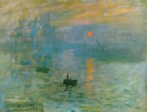 """""""Impression, Sunrise""""  Claude Monet, 1873"""