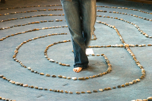 Walking the Labyrinth, image by James Jen