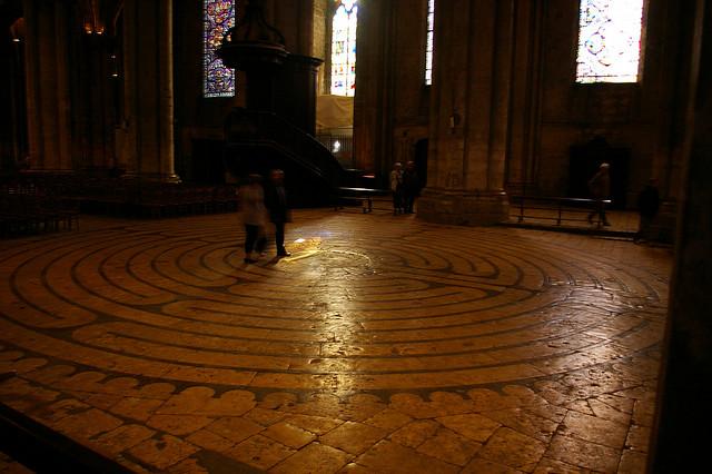 Walking Chartres labyrinth